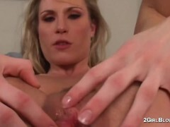 Harmony Rose in superslut cuckold vignettes of creampie licking molten wifey mistress while spouse observes and is locked in purity