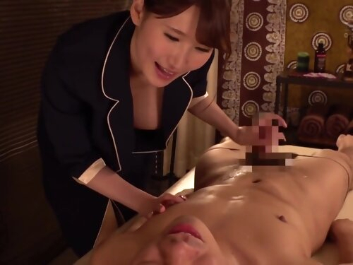 Asian Teen Makes Him Cum With Huge Load