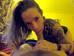 STEPMOM POV BLOWJOB, FACEFUCK & Gullet CREAMPIE AFTER SHE CAUGHT STEPSON Wanking OFF