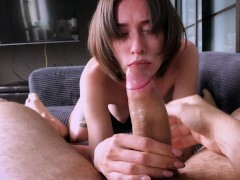 See this bombshell get into some sexy, slimy dick teasing.