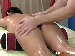 Little Thailand hottie has her enraptured assets lubricated up and caressed