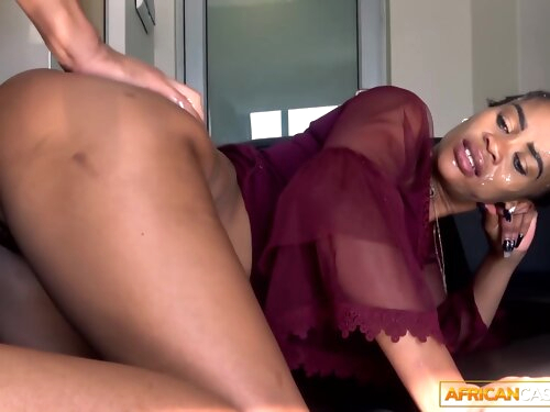 Face Fucked African Amateur Ass Fucked