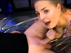 Facials and jizz flows with behind pulverizing on bibi