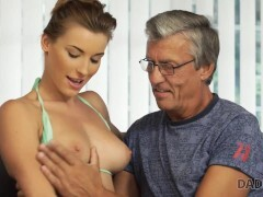 DADDY4K Sexually aroused belle is in the mood for an affair with BFs parent