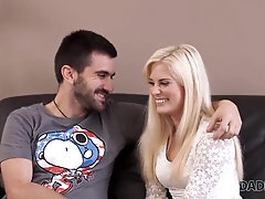 DADDY4K Adorable light-haired probing attempts hook-up with more ultra-cutie playmate