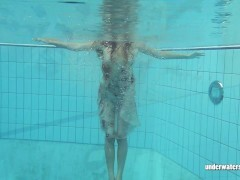 Lucy Gurchenko Takes off her stellar suit in swimming pool