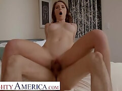 Horny America - Charly Summer is willing to give her taut cunt up for some help with school!