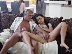 DADDY4K Thirsty belle porked with old cock belonging to BFs daddy
