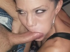 Latina Teenager Chola THOT from the Spandex hood Deepthroats Her Dealer's Hard-on