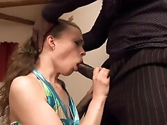 Russian anal invasion D/s takes a big black cock deeply