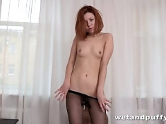 Torn Pantyhose - Solo Assfuck and More