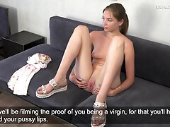 Light-haired cherry Victoria very first time audition