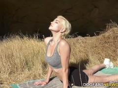Skye Blue Takes Thick Captured Shaft After Outdoor Yoga