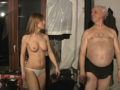 Lucky grandpa spent night with warm Russian babe