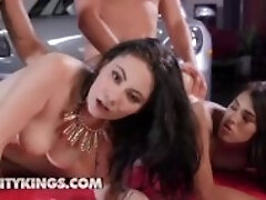 Reality Kings - Teens Stephanie West and Lenna Lux get pounded in foursome