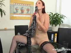Solo Piss Fuck At The Office For Antonia