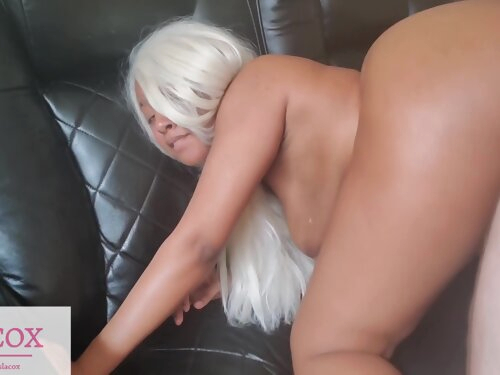 Cute Ebony Islacox Almost Taps Out While Taking Huge White Cock!