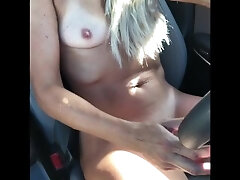 Fit Teen Stunner Fails to obey Her Sir & Drives Bare While Rubbing Herself & Squirting—CumPlayWithUs2