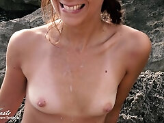 Caught twice while i suck his cock! Risky fuck outdoor unexperienced LustTaste 4K