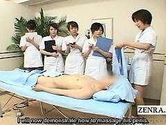 Subtitled CFNM Japanese hj spa group demonstration