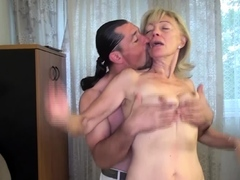 harassment gross old mother poked by stepson