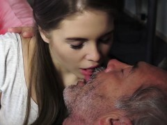 Old Youthful Pornography Lil' Chick Nailed Smooth-shaven Grandpa in pussy