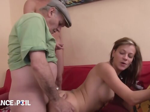 Hot Whore Sucking Old Perverts Knob - On All Fours