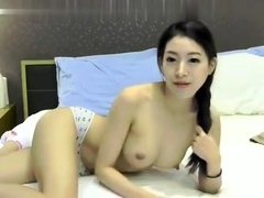 Erotic Chinese stunner beside Spicy form solo self pollution